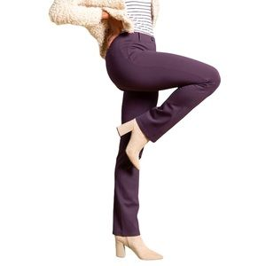 Betabrand Straight Leg Dress Yoga Pants Purple L